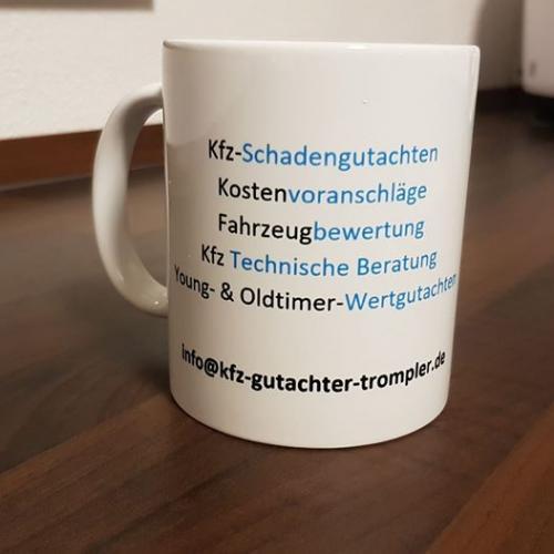 kfz-gutachter-trompler-werbung-tasse